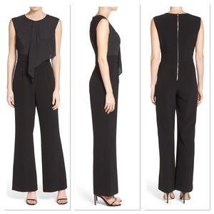 Vince Camuto Black drape jumpsuit
